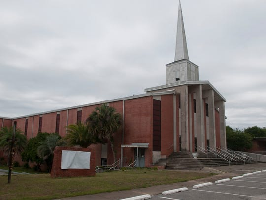 Warrington Baptist Church is pictured on Monday, May