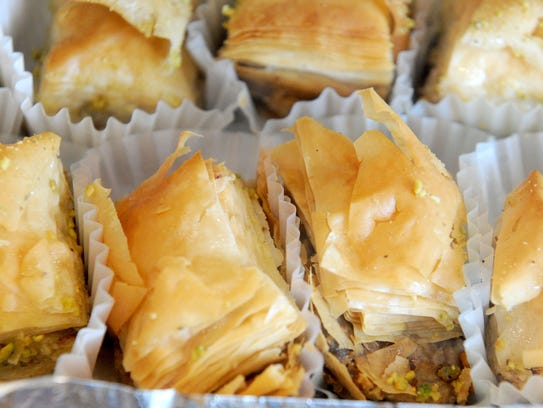 Baklava is the dessert of choice at Azi Grill in the