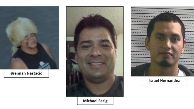 These men are wanted by the Morton County Sheriff's Office in North Dakota for crimes committed at the Dakota Access Pipeline protests in October.