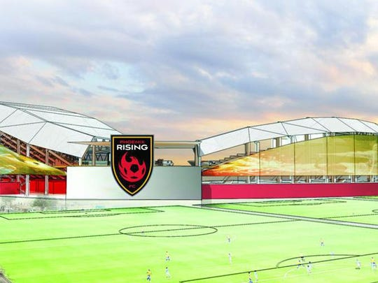 Rendering of new stadium on the Salt River Reservation