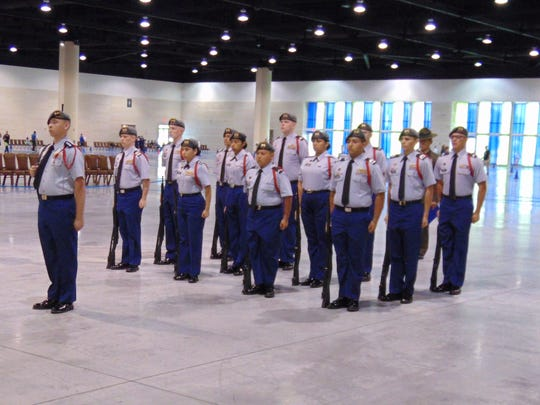 North Salem's Vanir Platoon placed eighth overall in the Mixed Arms Division at the Masters level during the National High School Drill Team Championships on May 1 in Dayton Beach, Florida.