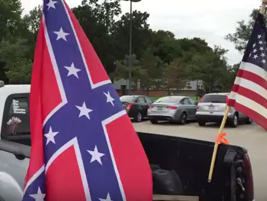A Guy His Truck And The Confederate Flag - Rebel flag truck decals   how to purchase and get a great value safely