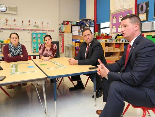 From left, Adrienne Capocci, a kindergarten teacher,