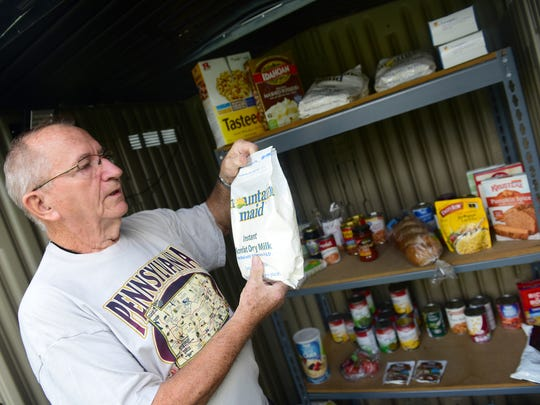 Allen Melius installed a food pantry in his front yard at 516 Hamilton Avenue, Chambersburg. Melius saw  a need for a 24-hour pantry when he saw so many people go hungry in the area.