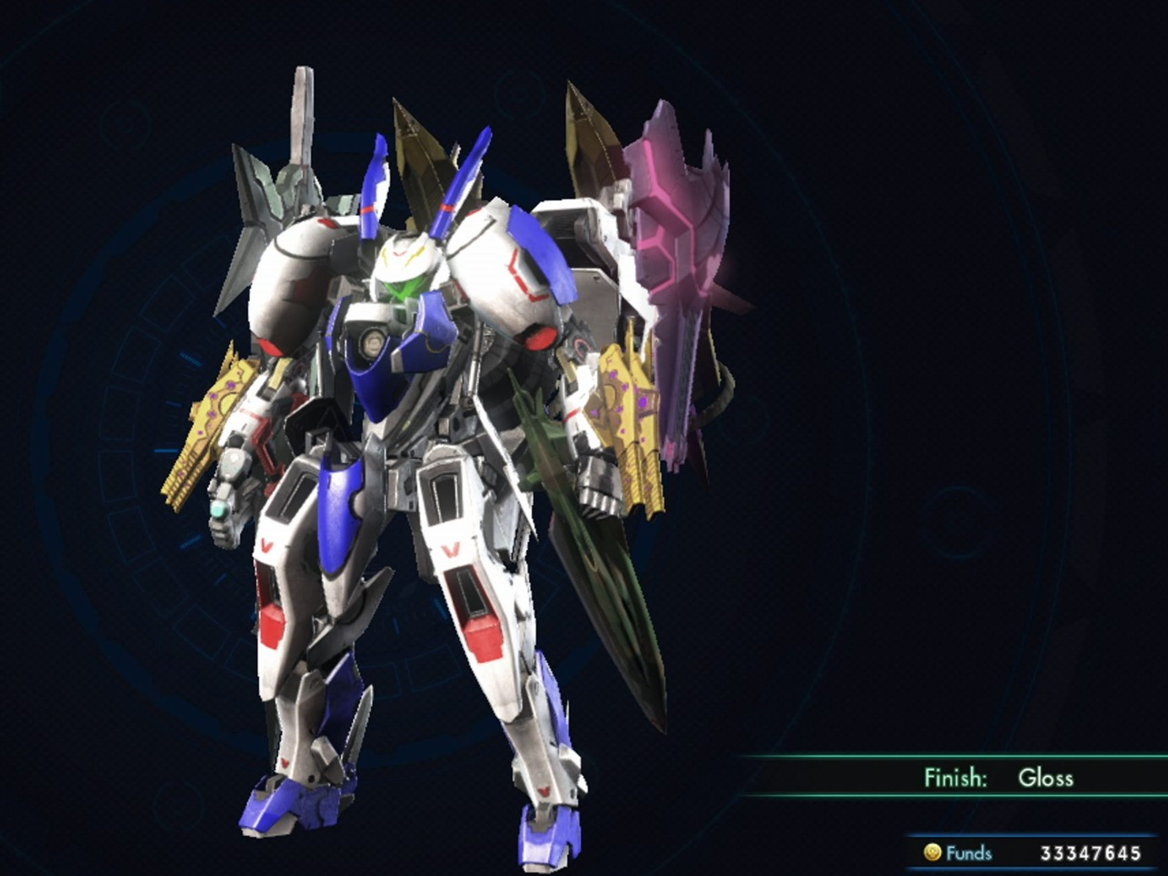 A Xenoblade Chronicles X Skell unit in Gundam colors. Or is it Dragonar-1 colors?