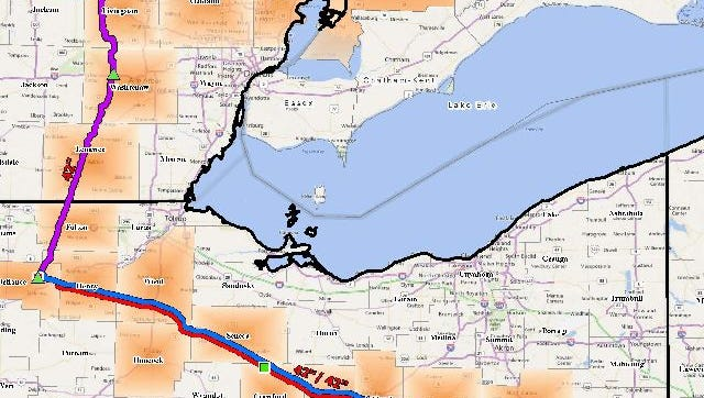 Proposed route.