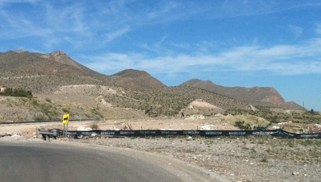 Grading for the Sierra Del Puerte development is taking place in Northeast El Paso.