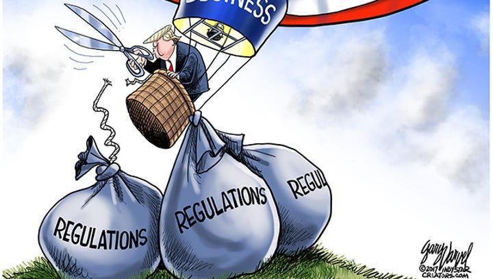 Cartoonist Gary Varvel: Trump cutting regulations