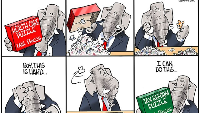For 7 years, Republican promised to repeal and replace Obamacare but when given the majority they were unable to do it. Now they promise to reform tax policy...