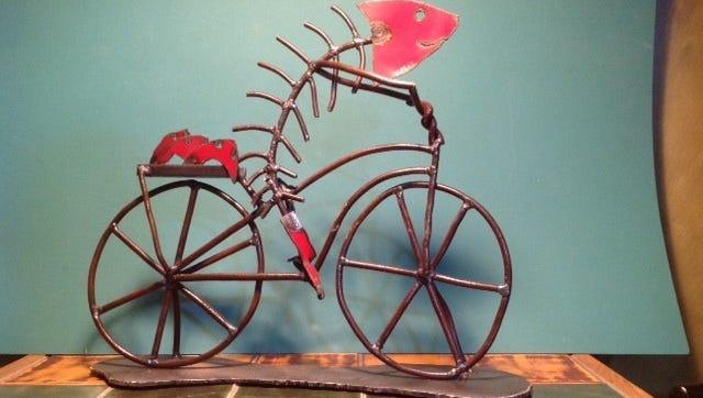 A metal sculpture by Joe Malesky.