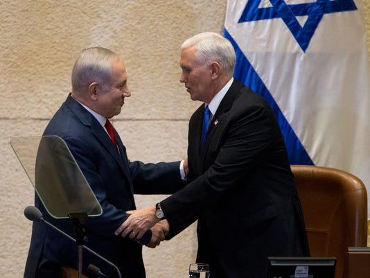 AP ISRAEL PENCE I POOL ISR