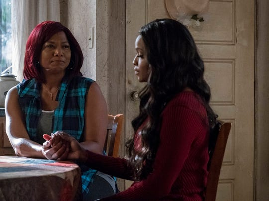 Queen Latifah (left) and Amiyah Scott in the Feb. 15