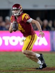 One of the knocks on USC's Sam Darnold was his penchant