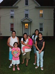 A migrant family from Mexico has made their home in