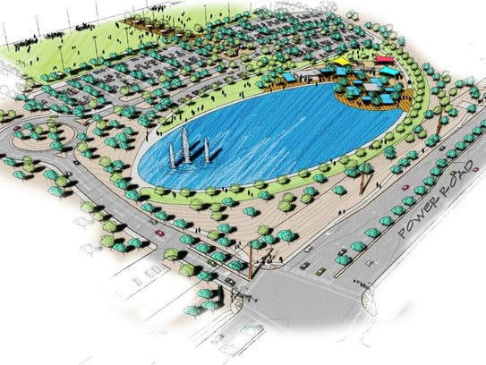 A rendering of Gilbert's new Rittenhouse District Park, which will begin construction soon.