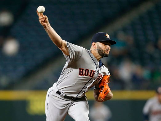 April 17: Lance McCullers, Astros, 11 at Mariners
