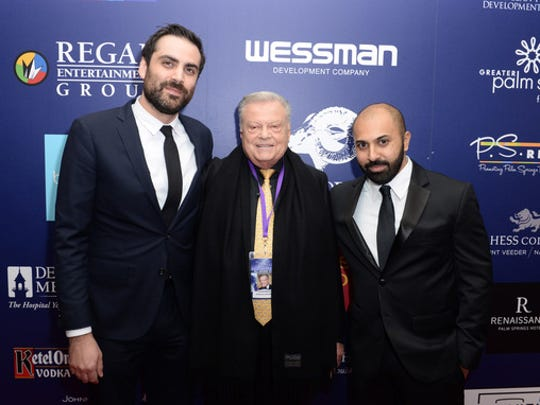"Festival Chairman Harold Matzner and Artistic Director Michael Lerman with Ritesh Batra, the director of the Festival's opening night screening ""The Sense of an Ending"" which has received much critical acclaim."