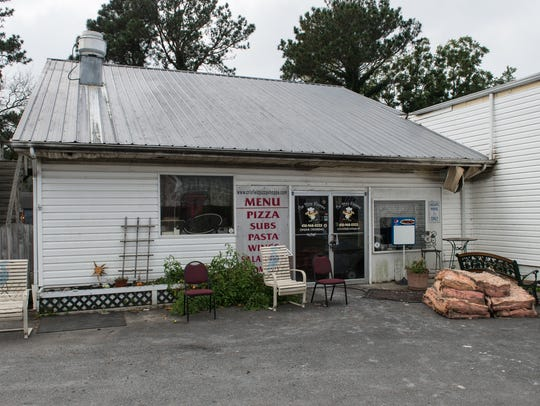 An exterior view of the Pizza Shoppe in Crisfield on