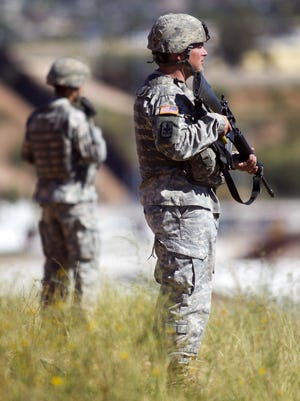 Trump said Thursdayhe would like to see2,000 to 4,000 National Guard troops deployed along the Mexican border for an indefinite length of time.