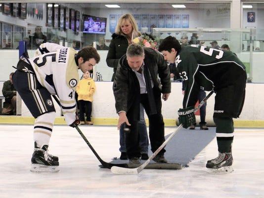 Indian Hills hockey ceremony