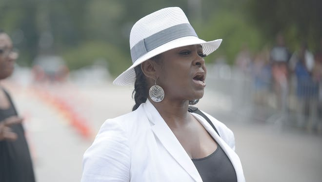 Leolah Brown walked out of niece Bobbi Kristina's funeral during the eulogy given by Pat Houston.