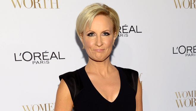 Mika Brzezinski arrives at the Ninth Annual Women of Worth Awards in New York on Dec. 2, 2014.