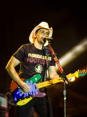 Brad Paisley, seen here playing a concert in Tallahassee