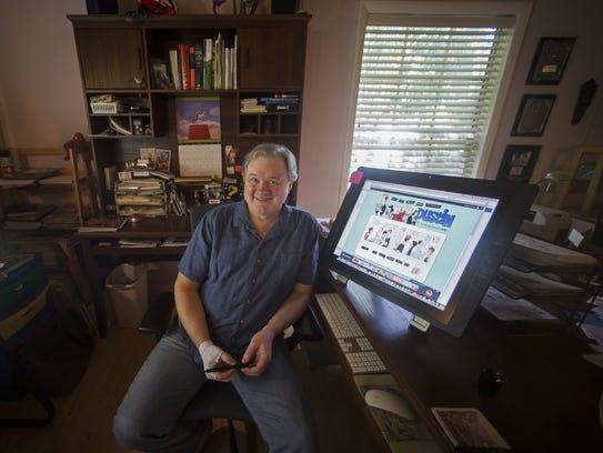 Nationally acclaimed cartoonist, Jeff Parker will begin