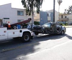 At the scene of fatal head-on Oxnard collision