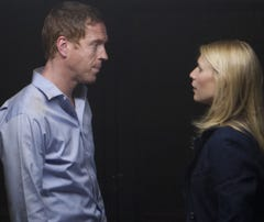 Nick Brody (Damian Lewis) and Carrie Mathisom (Claire Danes) share love and secrets in Showtime's terrorism drama, 'Homeland.'