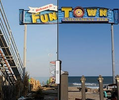 Before and After: Seaside Heights, N.J., boardwalk