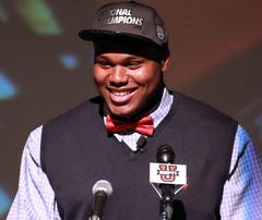 Muscle Shoals (Ala.) defensive tackle Dee Liner announces his intentions to attended Alabama.
