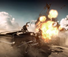 A scene from the video game 'Mad Max.'