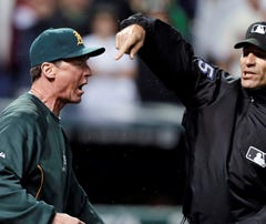 Blown HR call after replay review leaves A's furious