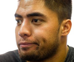 Te'o talks with USA TODAY Sports.