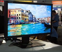 A TV on display at CES 2013