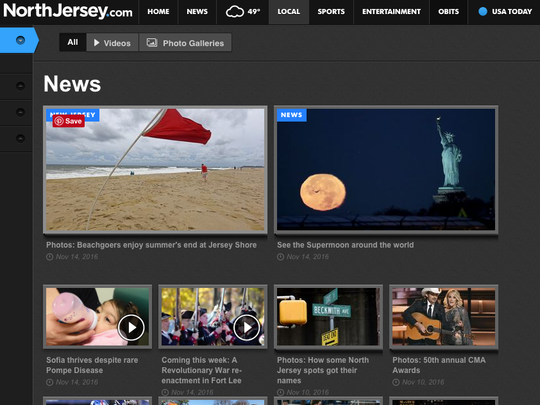 The photo-video front showcases multimedia from NorthJersey.com.