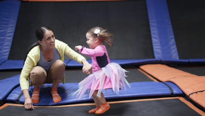 The newly-opened Sky Zone is an exciting attraction that caters to all ages.