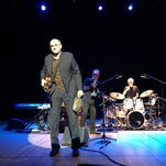 Music legend James Taylor joined Steve Gadd on stage at Friday's Xerox Rochester International Jazz Festival.