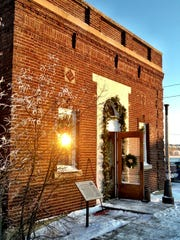 LEFT: The former Virgelle State Bank also hosts a collection of festive antiques for the Chouteau County Country Christmas.