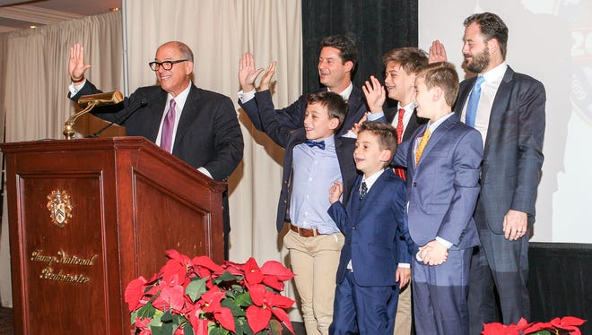 During the Somerset Patriots' annual holiday party Dec. 5 at Trump National Golf Club in Bedminster, Steve Kalafer, the baseball team's owner, along with his sons and grandchildren, pledged to the 350 community members in attendance that the Kalafer family would continue to be good stewards of this community institution.