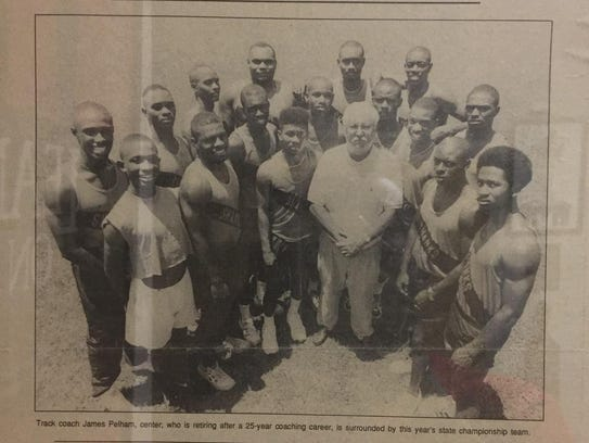 A photo of the Shanks' track team in 1995 as remembered