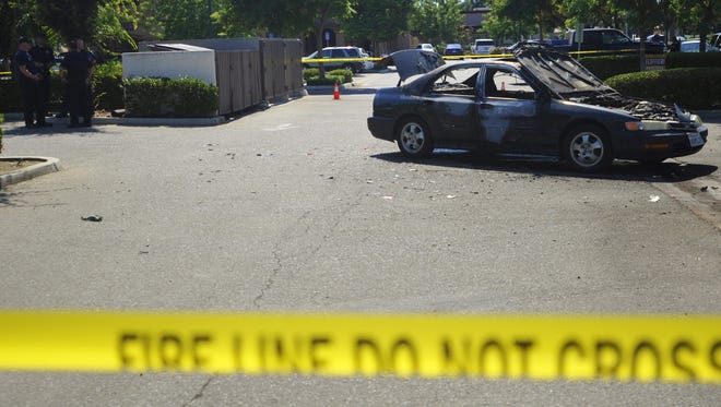 A Visalia man is recovering from heat exhaustion after police said he stole two cars and robbed a shoe store.