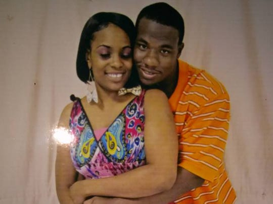 Omar Pouncy, 28, pictured with Latasha Wilbanks, 30,