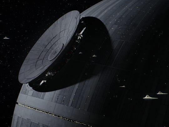 The Death Star under construction in 'Rogue One: A
