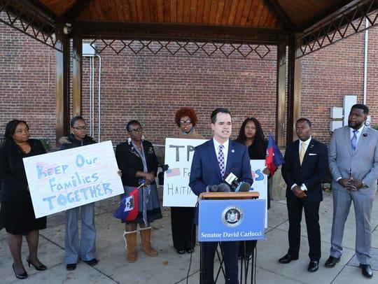 State Sen. David Carlucci and Haitian-American groups