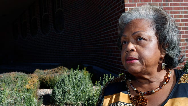 In this Thursday, Nov. 10, 2016, photo, sister Lee McNeil talks about her efforts to eliminate an archaic and offensive reference to slavery, as a punishment for a crime in the state constitution through an amendment on the general election ballot during an interview outside Shorter Community A.M.E. Church, in Denver. (AP Photo/David Zalubowski)