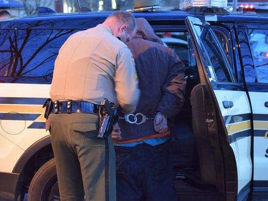 Tennessee Highway Patrol Sgt. Jeffrey Appleba arrests