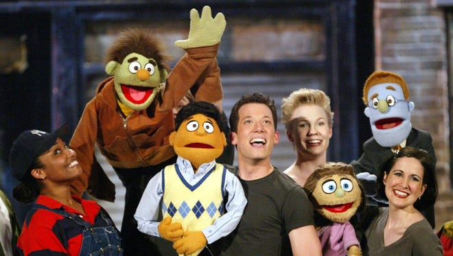 "The original cast of ""Avenue Q"" performs during the 58th Annual Tony Awards"