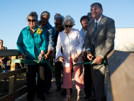 The South Texas Botanical Gardens & Nature Center held a ribbon-cutting ceremony for the Bill Bates Maintenance Complex on Thursday, Oct. 26, 2017.